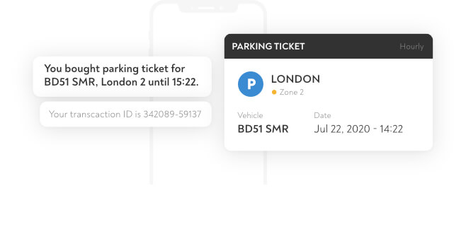 buying a parking ticket on mobile phone